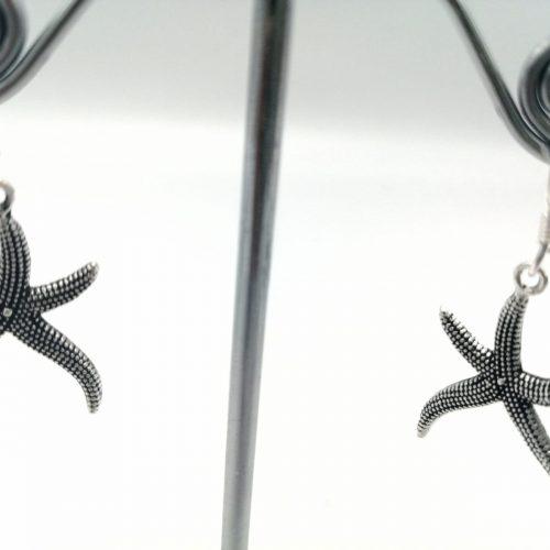 Pendientes de plata con estrella de mar